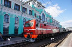 Ekaterinburg station from the Trans Mongolian railway.