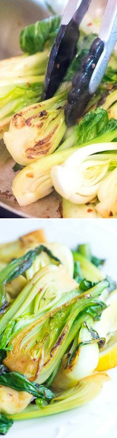 How to make sauteed bok choy with fresh lemon and garlic in under 10 minutes. Make this as a side dish or add your favorite protein for a full meal.