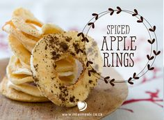 A recipe for Spiced Apple Rings - a delicious and nutritious anytime snack. Perfect for the beach summer holiday! Spiced Apple Rings Recipe, Spiced Apples, School Lunch Box, Holiday Beach, Christmas Recipes, Bagel, Festive, Snack Recipes, Spices