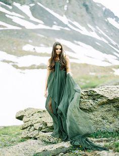 Green wedding dress by Leanne Marshall