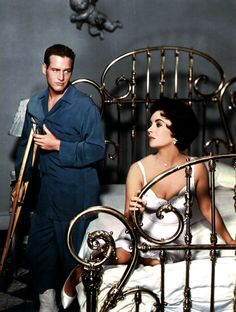 Newman / Taylor. Massive alcohol consumption next. Cat on a Hot Tin Roof . '58