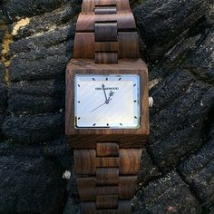 Meet The Garwood Watch - Domino. Made from Indonesian sandalwood. Features oil painted copper face. Buy online at TheGarwood.com.