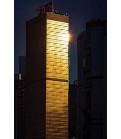 Golden hour in Hong Kong. Golden Hour, Willis Tower, Hong Kong, Skyscraper, Multi Story Building, Instagram, Skyscrapers