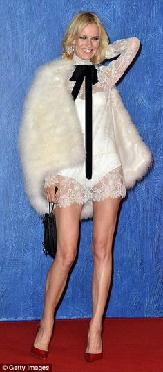 Too nice: She left on her white bodysuit for a second ensemble...