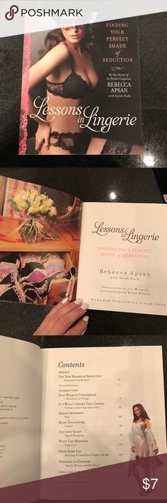Lessons in Lingerie book! Super cute book for your coffee table! Nearly new condition! Accessories