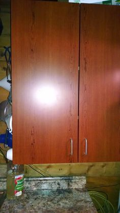Wood Grain Contact Paper To Cover Ugly Kitchen Cabinets While Renting I M Going
