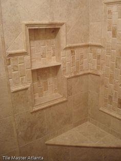 Marble  tile shower | ... Marble tile Atlanta | Bathroom travertine tile Atlanta | Natural stone