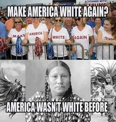 "This Country was Stolen from American Indians by Whites. Actually History is repeating itself.Trump is busy Stealing everything he can get his hands on and trying to make America ""All White!"" Too Late.We Are Diverse and We're Staying That Way! We Are The World, In This World, Caricatures, Before Us, Photo Instagram, Instagram Repost, Social Issues, Social Justice, American History"