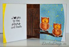 Owl Pop Up Card - great tute on how to make it a pop up with tips for using matching dies, etc.