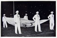 1936 Berlin Olympics Photograph - German Athletes Carrying the Olympic Flag | by France1978