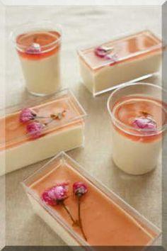 * 春の香り ❤ 桜レアチーズケーキ♪