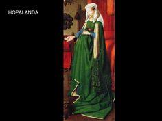 La hopalanda la vestian hombres como mujeres, era una tunica larga y ancha, se llevaba con un cinturon e iba ajustada en los hombros, tenia cuello alto, mangas amplias y holgadas.