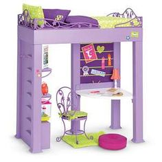 American Girl Doll Beds | American Girl KcKennas Loft Bed Set AG Doll Year Gymnastics