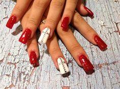 Red nails  by rosielena - Nail Art Gallery nailartgallery.nailsmag.com by Nails Magazine www.nailsmag.com #nailart