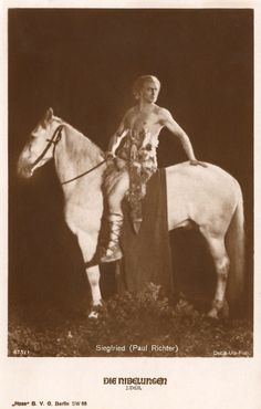 The Vintage Prophecy Postcards…Paul Richter & Horse as King Siegfried in Die Nibelungen (1924 German Silent Fantasy Film by Fritz Lang) RARE Fritz Lang, Make Real Money, Autograph Books, Fantasy Movies, Body Poses, Photo Postcards, New Media, Vintage Photographs, Classical Music