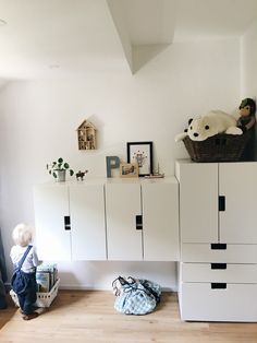 Luxury Stauraum im Kinderzimmer mit IKEA Stuva