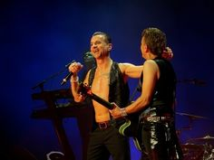 Dave Gahan,Martin Gore, Gahore, Depeche Mode in NY, photo by Dingerz