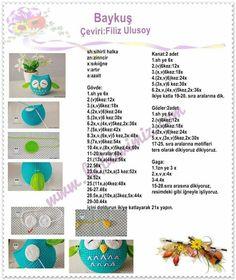 Is it sweet owl # – crochet pattern Crochet Coaster Pattern, Easter Crochet Patterns, Crochet Bunny Pattern, Crochet Patterns Amigurumi, Crochet Crafts, Crochet Toys, Cat Amigurumi, Crochet Furniture, Crochet Bouquet