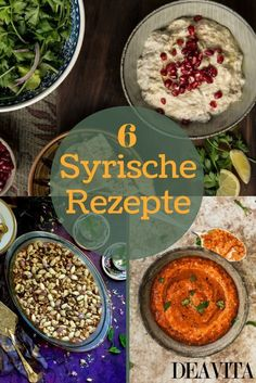 Syrian recipes - 6 Syrian dishes and specialties from .-Syrische Rezepte – 6 syrische Gerichte und Spezialitäten aus dem Orient Syrian food is refined and varied because it is not only from the Arabic cuisine but also … - Baby Food Recipes, Food Network Recipes, Indian Food Recipes, Vegetarian Recipes, Syrian Recipes, Arabic Recipes, Indian Snacks, Food Staples, Christmas Cooking
