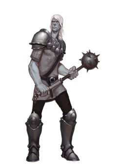 Male Cloud Giant Fighter Soldier - Pathfinder PFRPG DND D&D d20 fantasy