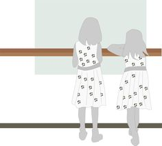 Girls in the museum by @Ulrike, Two girls in the museum, zwei Mädchen im Museum, on @openclipart