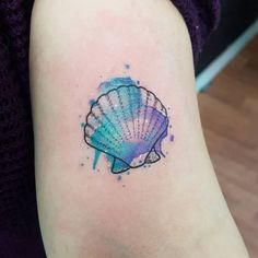 Colour Tattoo Design Ideas Watercolour Tattoos Glamour Uk - Coloring Page Ideas Star Tattoos, Mini Tattoos, Trendy Tattoos, Body Art Tattoos, Tattoos For Women, Celtic Tattoos, Seashell Tattoos, Mermaid Tattoos, Watercolour Tattoos