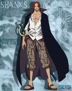 Poster affiche One Piece Shanks