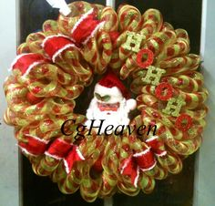 A Christmas wreath I made and sold to a friend