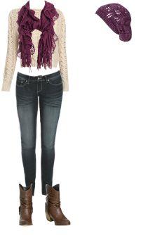 WetSeal.com Runway Outfit:  Purple Winter  by Define U.