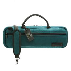Teal Corduroy C/B-foot flute carry case