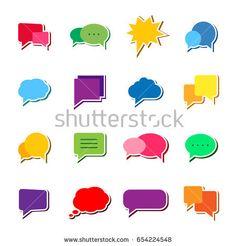 Speech bubbles icon set