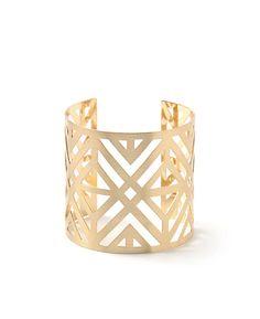 Geo Cut Out Cuff Bracelet