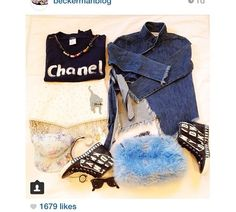 Love this Chanel flat lay