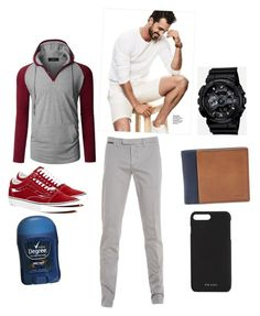 A menswear look from August 2017 featuring men's casual shirts, mens grey dress pants and vans mens shoes. Browse and shop related looks. Grey Dress Pants Men, Casual Shirts For Men, Men Casual, G Shock, Fossil, Men's Shoes, Prada, Men's Fashion, Relax