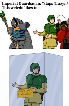 Warhammer 40k Memes, Warhammer Art, Warhammer 40000, Funny Animal Jokes, Funny Animals, Funny Memes, Imperial Guardsman, Necron, Game Workshop