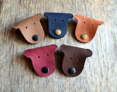 Cord holder cord organizer earbud holder leather by jewelryleather