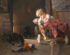 Champney, James Wells (b,1843)- Baby's Doll