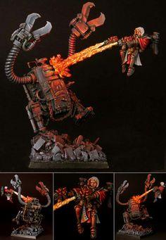 Warhammer 40k, Ork Killa Kan vs. Adeptas Sororitas Seraphim. Great lighting, and awesome modeling!
