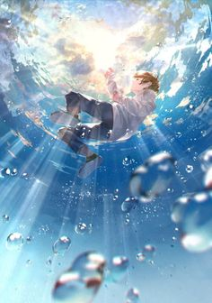 Art Discover Kai Fine Art is an art website shows painting and illustration works all over the world. Anime Scenery Wallpaper, Anime Artwork, Cool Anime Backgrounds, Wallpaper Art, Fantasy Anime, Fantasy Art, Aesthetic Art, Aesthetic Anime, Art Manga
