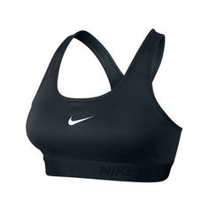 Nike Women's Pro Classic Padded Bra, Black ($40) ❤ liked on Polyvore featuring activewear, sports bras, black, nike, yoga activewear, racerback sports bra, nike activewear and nike sports bra
