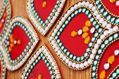 Kundan rhinestone rangoli, Diwali decor, Acrylic floor art Indian Wedding by Nirman