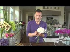 Make subtle yet impressive style statements in your home with simple floral arrangements. In this video, Interior Stylist and Author Nico De Swert demonstrates easy to make professional-looking flower bouquets for Pottery Barn.    Nico shows how to make the popular 'tussie-mussie' or Brussels bouquet. He makes this flower arrangement with slender-...