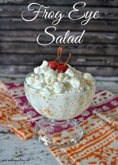 Frog Eye Salad #recipe #AddCoolWhip #shop #cbias Easy dessert recipes with cool whip.  Easy Fruit Salad recipes