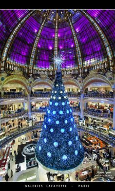 The Galeries Lafayette, Paris, France - walked by it a few times, never gone in. This would only be on my bucket list during Christmastime. I love malls at Christmas - the hustle and bustle and decor