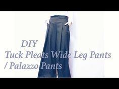 DIY Tuck Pleats Wide Leg Pants / Palazzo Pantsㅣmadebyaya - YouTube