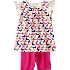 Conjunto Infantil Feminino Passarinho Pink - Brandili :: 764 Kids | Roupa bebê e infantil