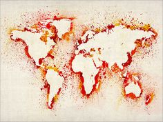 if i was a teacher, I'd take the kids outside to splatter paint, then as you remove the continents have them name them. Very creative and fun :)