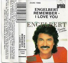 Engelbert Humperdinck ‎- Remember-I Love You Cassette Tape South Africa Edition #Disco I Love You, My Love, South Africa, Tape, Shirt Designs, Shit Happens, Music, Ebay, My Boo