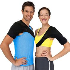 Shoulder Brace Rotator Cuff Support - Shoulder Pain Relief with Compression Sleeve to Treat Stiff, Injured AC Joints, Labrum Tears, Scapula Tendonitis & Dislocated Shoulders Arm Stabilizer (Large) Shoulder Support Brace, Shoulder Brace, Shoulder Arms, Shoulder Pain Relief, Muscle Strain, Scapula, Rotator Cuff, Compression Sleeves, Drug Free