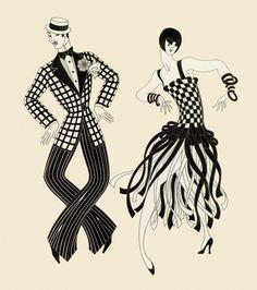 Charleston Couple - Erte - #art #illustration